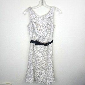 White House Black Market Cream Lace Dress Size 2